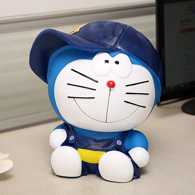 创意可爱不怕摔机器猫存钱罐超大号储蓄罐蓝胖子六一儿童礼品包邮