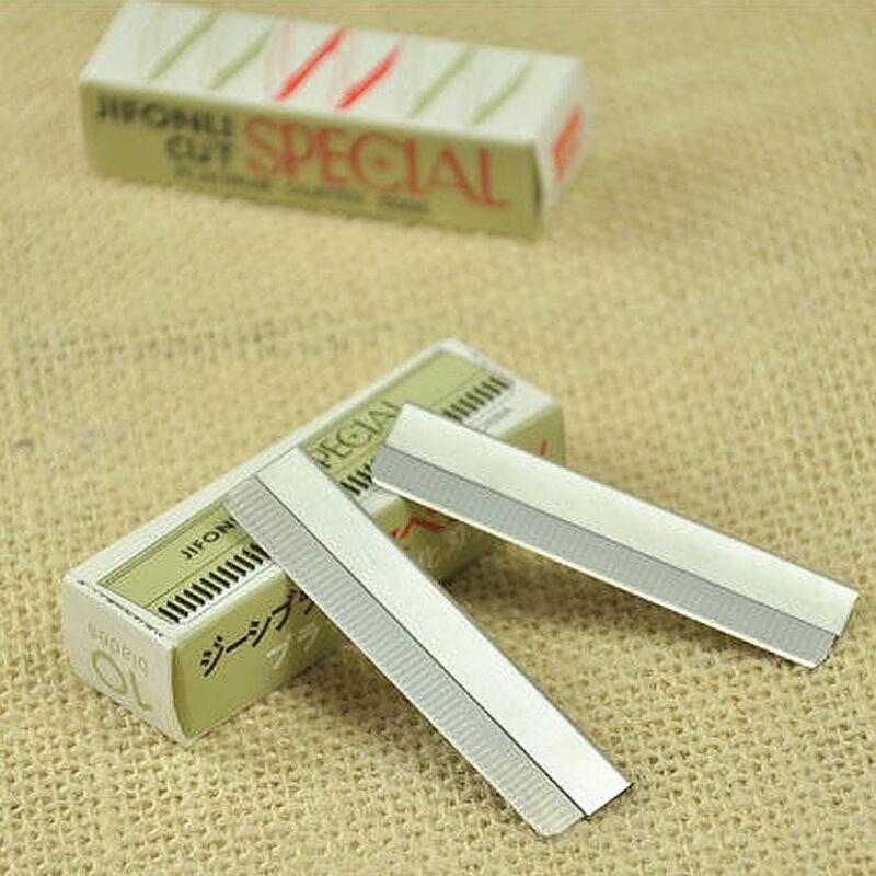 羽毛一盒修眉刀片單個白金日本超級