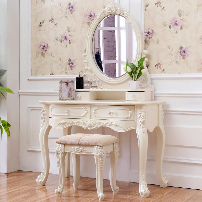 梳妆台小户型卧室实木欧式化妆桌迷你组装现代简约台