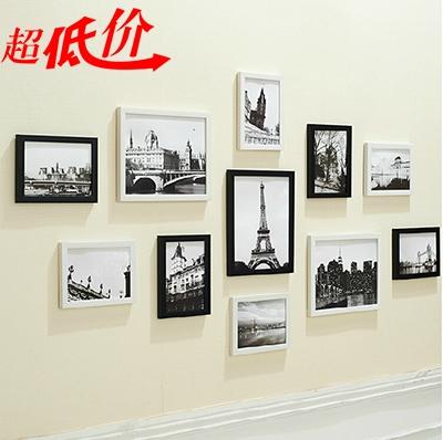 黑白照片墙创意挂墙相框组合相片墙卧室装饰11画框