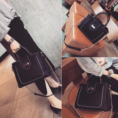 包包女2017新款韩版手提包大包潮简约时尚单肩包链条斜挎包女包包
