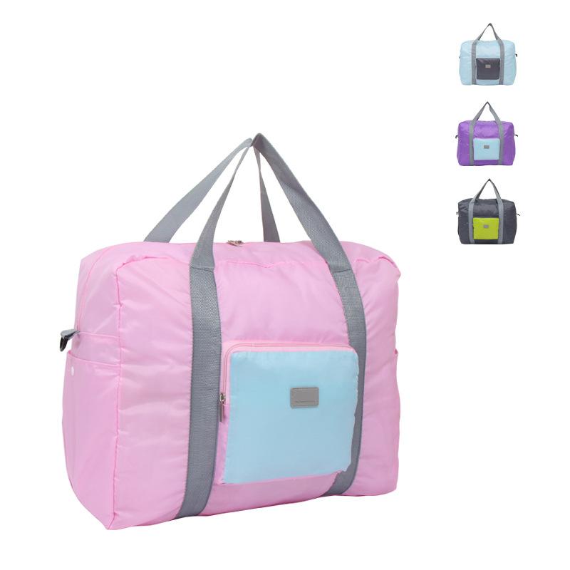 行李袋旅行包 手提背带可置拉杆箱学生女多功能折叠收纳包防水