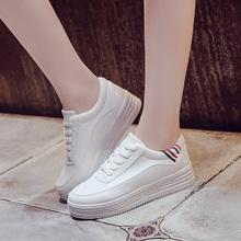 秋冬季加绒棉鞋新款小白鞋女百搭韩版厚底休闲运动鞋学生单鞋女鞋