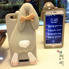限量版 龅牙兔iphone6 plus手机壳苹果7/6S/5S保护套硅胶4s可爱se
