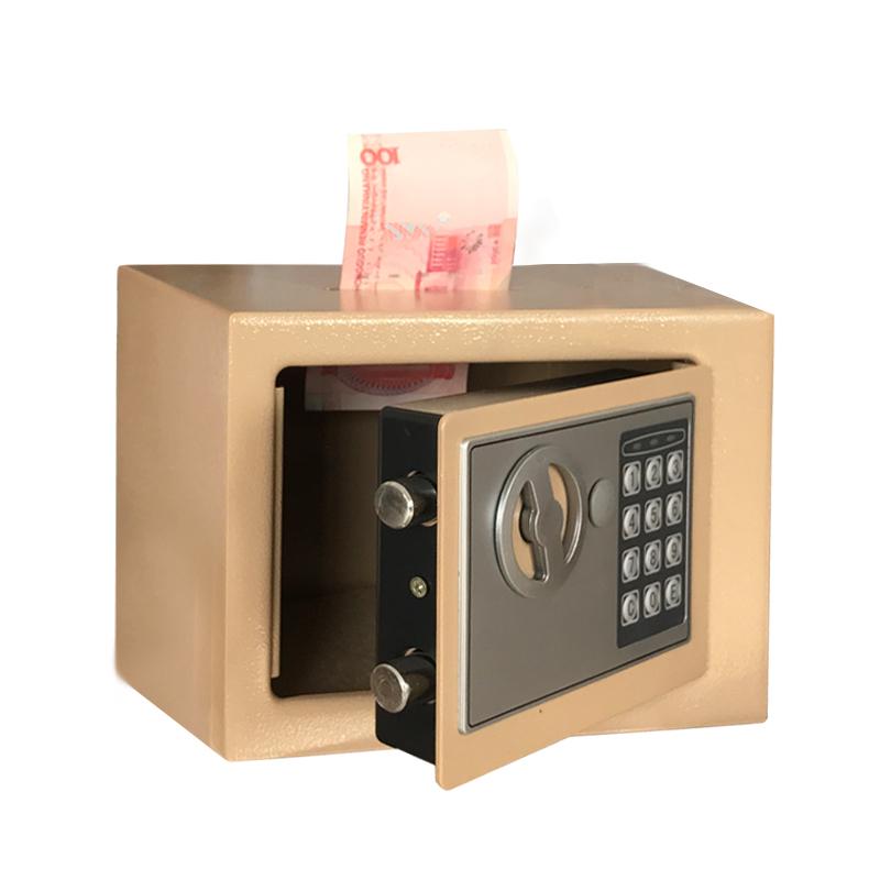 生日迷你保险箱储蓄罐存钱罐收纳盒钱箱创意礼品送礼密码箱 万泰