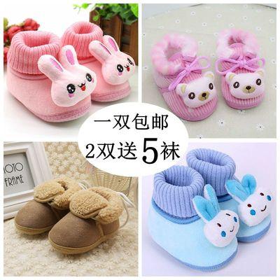 婴儿鞋冬季加厚保暖3棉鞋6男女宝宝学步鞋12个月软底秋冬新生儿鞋
