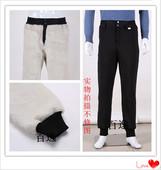 皮毛一体棉裤 中老年弹力裤 男赠运费险 绵羊皮羊剪绒真皮裤 子羊皮裤图片