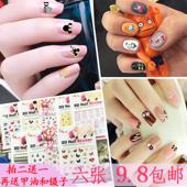 六张9.8包邮卡通KT米奇指甲贴纸 韩国 防水 美甲贴花儿童DIY大贴