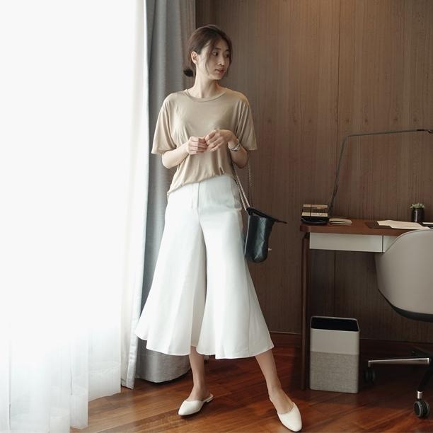 韩国东大门代购2017夏新款通勤时尚气质喇叭袖高腰正装西装裤女装