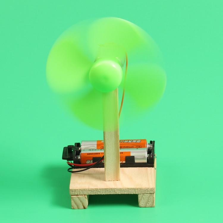 diy手工科技小制作小发明 自制简易小电风扇材料物理实验拼装作业