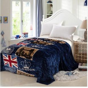 英伦风米字旗毯子时尚羊羔绒办公室午睡沙发空调盖毯四季潮人毛毯