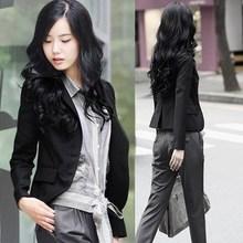 2014春秋新款女装修身小西装韩版显瘦长袖职业小西服外套 短款
