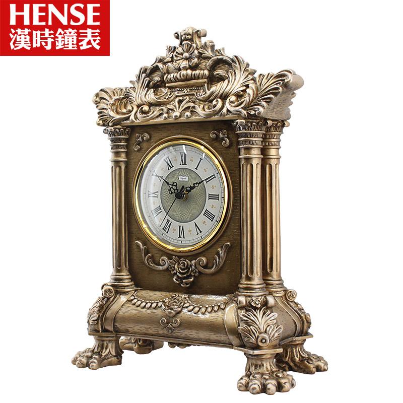 汉时欧式创意座钟客厅静音仿古台钟装饰摆件时钟礼