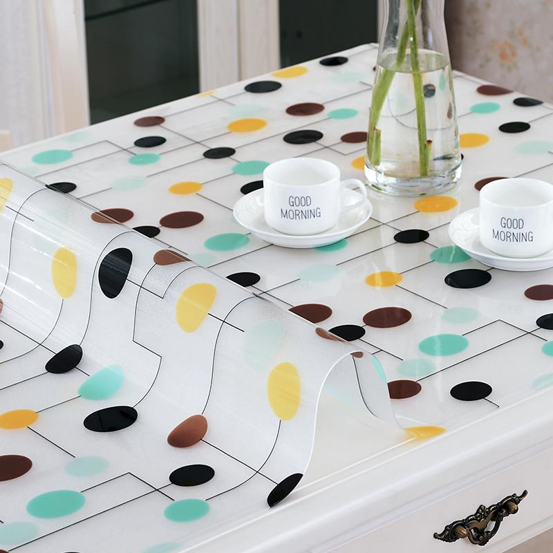 PVC餐桌垫茶几桌布防水防烫防油免洗软玻璃塑料茶几垫磨砂水晶板