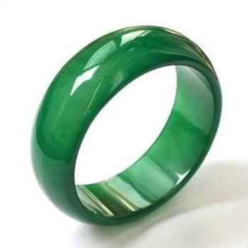 天然绿红黑玛瑙玉指环 霸气个性
