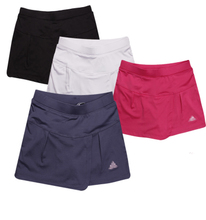 网球裙防走光假两件女子运动裤 裙速干紧身跑步 专业夜跑安全短裤