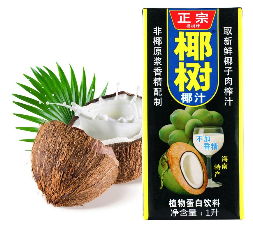 【天猫超市】椰树椰子汁饮料椰汁1000ml/盒  椰汁饮料 不添加香精