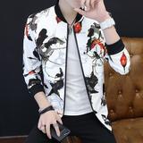 男士夹克衫外套韩版短款青年潮流修身休闲帅气学生薄款春秋上衣服