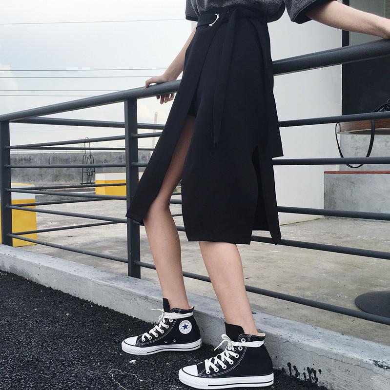 极致时尚性感版型修身开叉半身裙女装新品