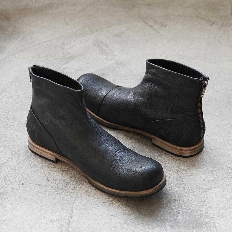 2017热卖秋冬复古保暖马丁靴中筒冬季靴子潮男靴流行男鞋高帮皮鞋