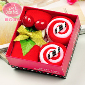 圣诞节公司创意实用小礼物结婚庆生日回礼品蛋糕毛巾礼盒幸福叶子