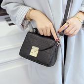 索爱石头纹迷你手提包斜跨链条小包包时尚个性女包单肩包