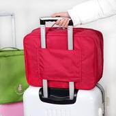 韩国行李收纳包出国旅行手提登机包出差用品折叠收纳袋可插拉杆箱