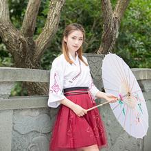 汉服女改良夏装学生中国风古装服装襦裙广袖上衣古风女装日常套装