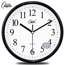 康巴丝静音挂钟时尚挂钟卧室客厅办公现代时钟表简约创意石英钟表