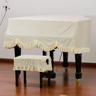 音月包邮布艺琴罩波浪型三角钢琴罩厚布料金丝绒三角钢琴罩