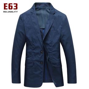 E63中年男士西装纯棉2016新款春秋装 薄款西服 商务休闲单西外套