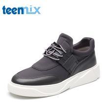 Teenmix/天美意秋专柜同款纺织物/软面牛皮男单鞋BKH01CM7图片