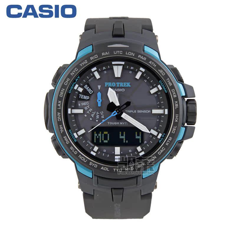 卡西歐(CASIO)男表 電波戶外登山運動錶 PRW-6100Y-1A