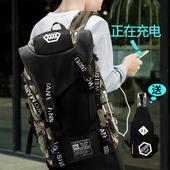 沃曼威斯新款韩版电脑包潮流行李袋大容量背包男休闲双肩包旅游包