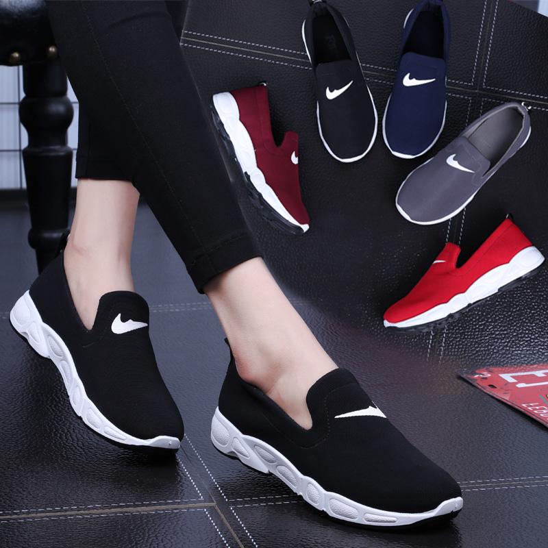 跑步百搭韓版樂福鞋運動鞋開車夏季懶人學生休閑