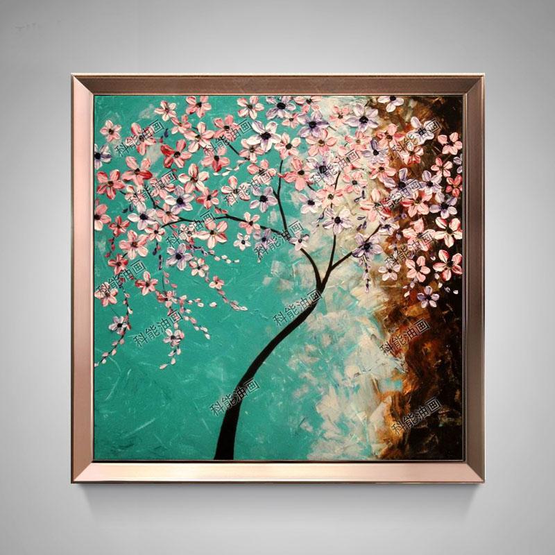 画客厅装饰画沙发背景墙画油画欧式花卉壁画玄关挂画