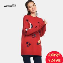 艾格 Weekend 冬季时尚百搭舒适简约套头毛衣女16021716701图片