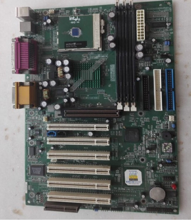 联想QDI主板815EP 370接口P3处理器 带串并口6根PCI 不支持图拉丁