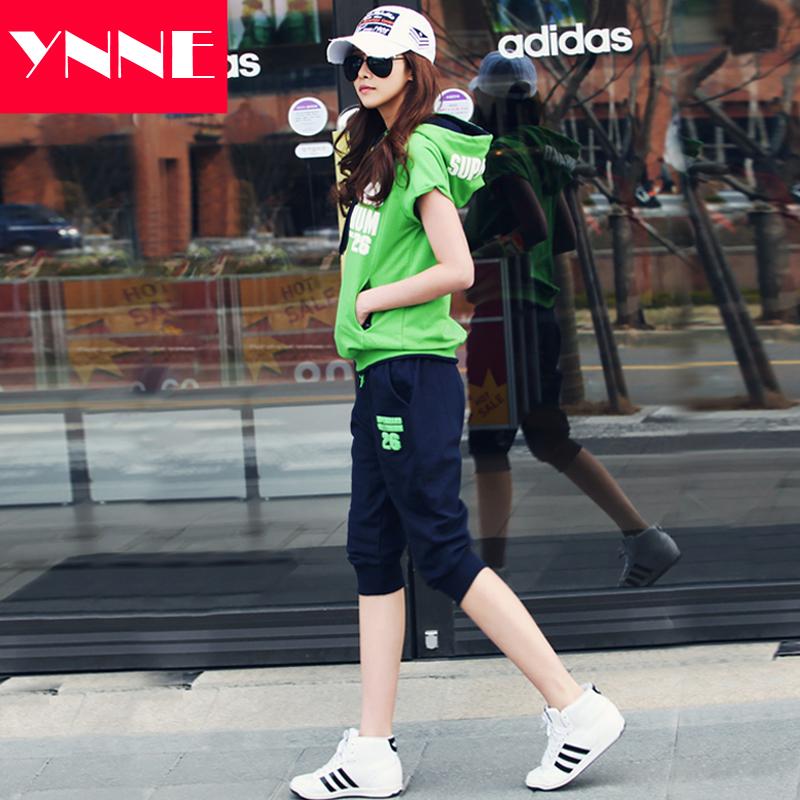 運動服bf時尚運動套裝寬松兩件套韓版潮夏季休閑學生