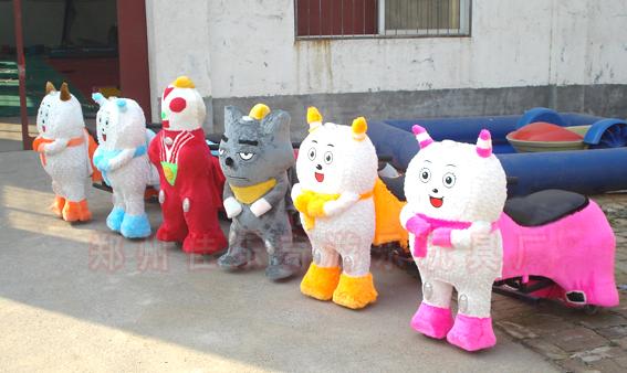 特价毛绒玩具车价格 儿童广场游乐电动4轮车 动物卡通电瓶车热卖