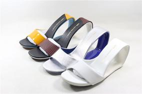 UN鞋夏季休闲街头时尚环形跟高跟凉鞋异型跟镂空高跟真皮女凉拖鞋
