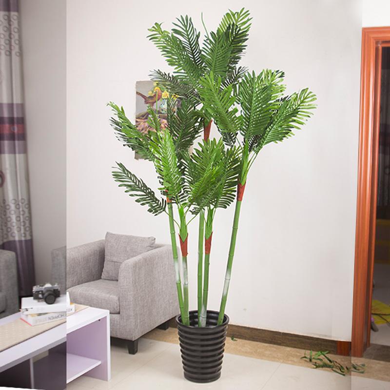 散尾葵过胶植物盆栽盆景大型客厅落地装饰假花塑料花
