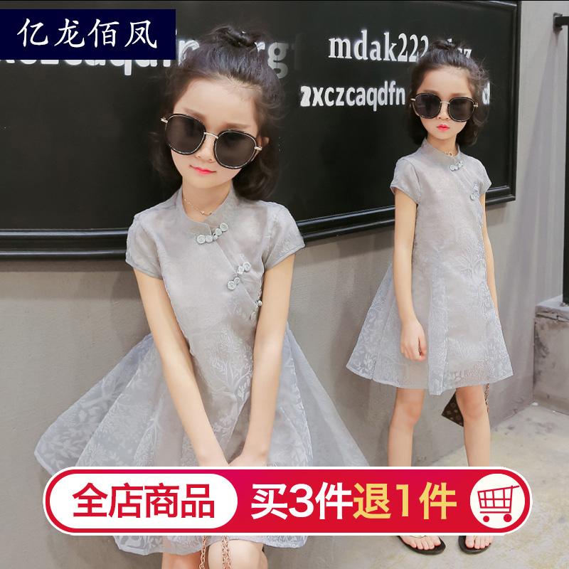 裙子连衣裙儿童短袖夏季女童夏装公主小女孩