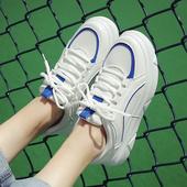 2016韩版冬季百搭厚底女鞋学生松糕休闲鞋平底加绒运动鞋跑步鞋