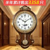 北极星客厅黄铜镇宅挂钟表欧式壁墙钟时尚仿古艺术复古创意石英钟