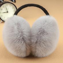 冬季后戴耳罩男女士通用毛绒保暖耳套可爱耳暖仿兔毛护耳后带耳包