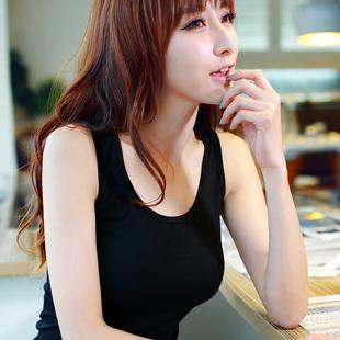 黑色工字吊带背心女春夏外穿短款秋冬内搭修身无袖大码女装打底衫