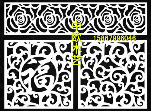 定制玫瑰花正方形镂空隔断 电视背景玄关 吊顶PVC密度度板雕花板