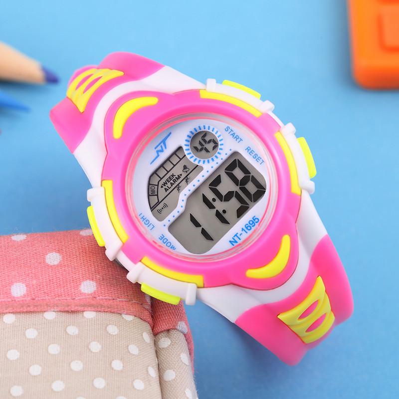 宝利玛儿童手表女孩防水夜光中小学生手表男童运动电子表女童手表