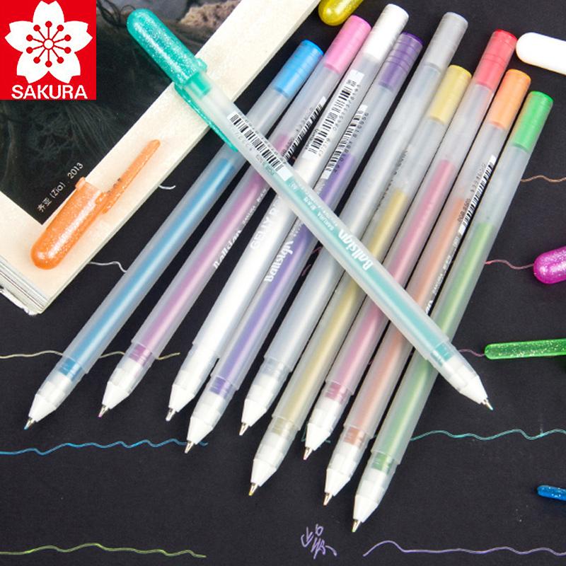 日本樱花高光笔白笔手绘金色波晒笔银色手绘设计白线笔勾线油漆笔